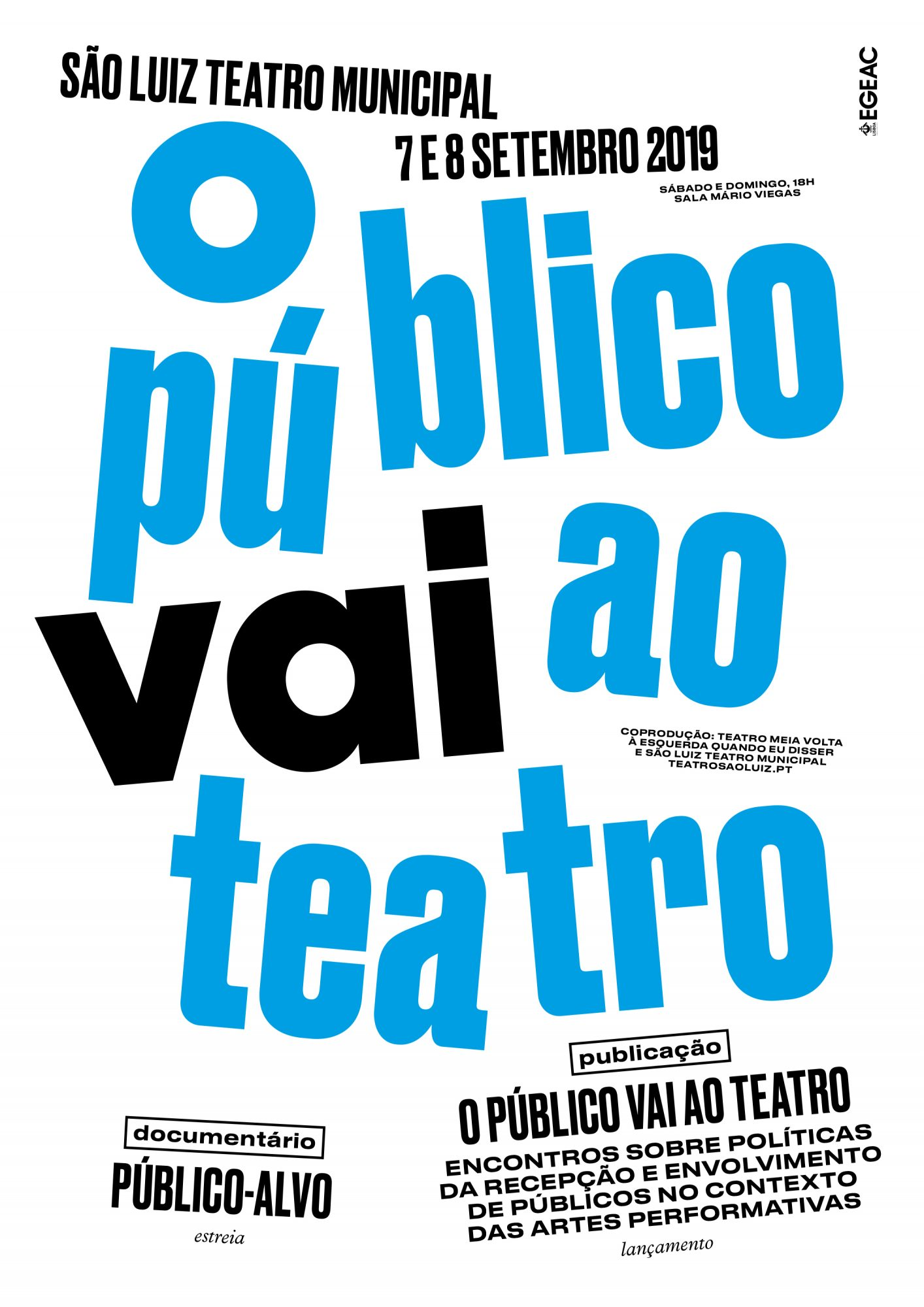 O Público vai ao Teatro, setembro 2019